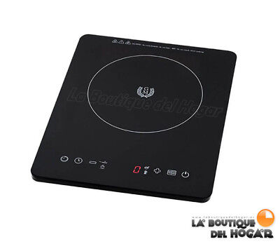 Placa de Induccion Portatil Negra 2000 W JRD
