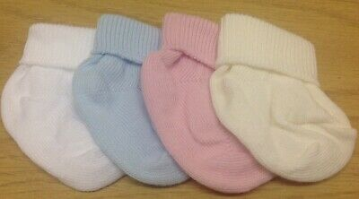 6 PAIRS PREMATURE BABY SOCKS REBORN - DOLL- TURN OVER TOP ANKLE - BOY or GIRL