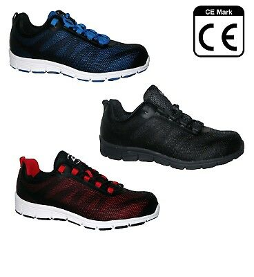 Mens Ultra Lightweight Steel Toe Cap Safety Trainer In 3 Colours Sizes 7-11