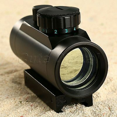 Red Green Illuminated Dot Holographic Tactical Laser Sight Scope 11/20mm Rail