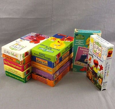 Sesame Street VHS Lot of 12 Videos Elmo Preschool Collection Educational