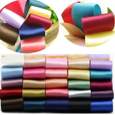 5 Yards Solid Color Fold Spandex Satin Band Lace Sewing Trim 25mm  HOAU
