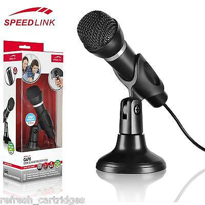 Speedlink Capo Desktop / Handheld Microphone With 3.5 Mm Jack For Pc / Mac