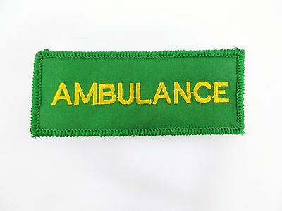 AMBULANCE Paramedic Medic First Aid Sew On Embroidered Chest Patch Badge B1 MA1