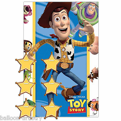 14 Piece Disney Toy Story Children's Birthday Party Pin The Badge Poster Game