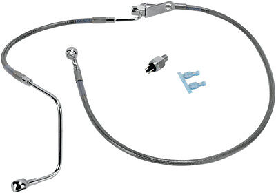Drag Specialties 43-5/8 Inch Braided Rear Brake Line For Harley 1741-2944