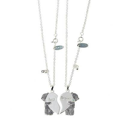 Me to You Tatty Teddy Best & Friend Necklaces with Crystal Stones Gift Boxed