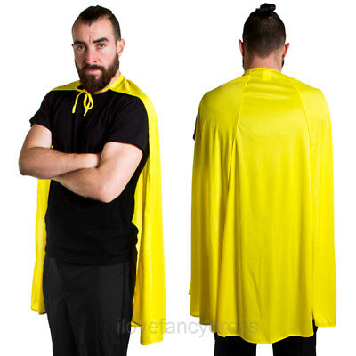 "Yellow Superhero Cape 40"" Fancy Dress Comic Book Tv Movie Character Costume"