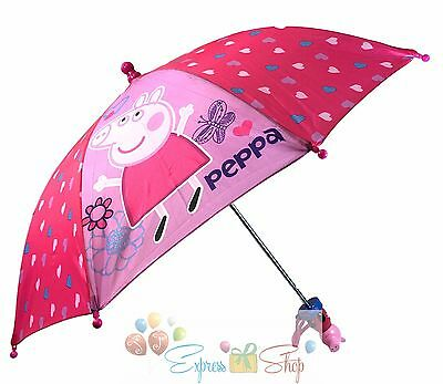 New Peppa Pig Molded Handle Umbrella for Kids