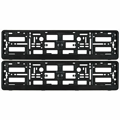 New Pair Volvo Number Plate Surrounds Holder Frame For Volvo Cars and 4x4 SUV