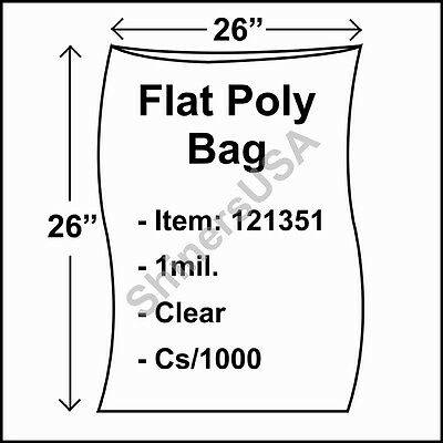 1,000 Bags 4 X 12 2 Mil Flat Poly Bags Laddawn 405