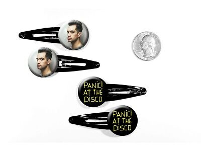 Panic! At The Disco Death of a Bachelor Brendon Urie Set of 4 Barrettes