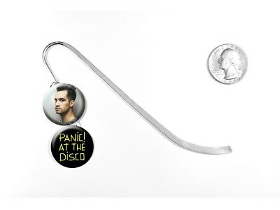 """Panic! At The Disco Death of a Bachelor Brendon Urie 5"""" Silver Bookmark"""