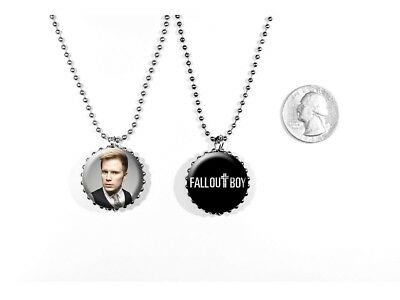Fall Out Boy Logo Patrick Stump Centuries Rock Band 2 Sided Necklace