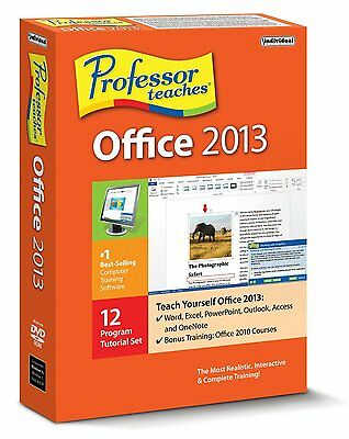 MICROSOFT OFFICE 2013 learning software DVD PC WIN 8/7/VISTA/XP BRAND NEW