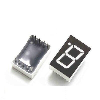 5PCS 0.56 inch 1 digit 7 segment Common cathode Red Led display