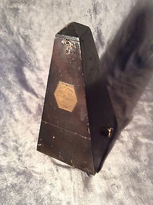 Antique Vintage Maelzel Metronome Works Great Easy Restoration Project Wind Up