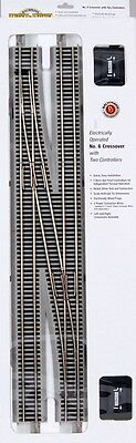 Bachmann HO Scale Train E-Z Track Nickel Silver #6 Crossover Turnout Left 44575