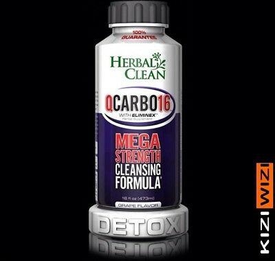 Herbal Clean QCarbo16 GRAPE Detox Drink 16 oz1 Bottle with ELIMINEX 08/2018