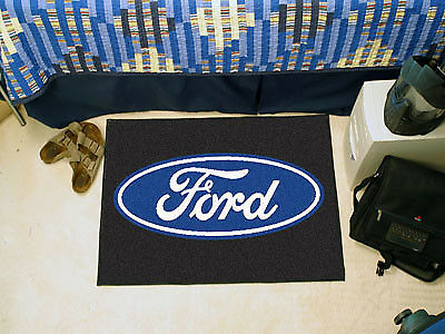 """Fanmats Ford Oval Starter Rug 19"""" x 30"""" -Black- 16075 Sports memorable NEW"""