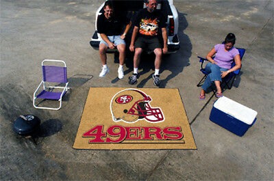 Fanmats NFL-San Francisco 49ers Tailgater Rug 5' x 6' 5838 Sports memorable NEW
