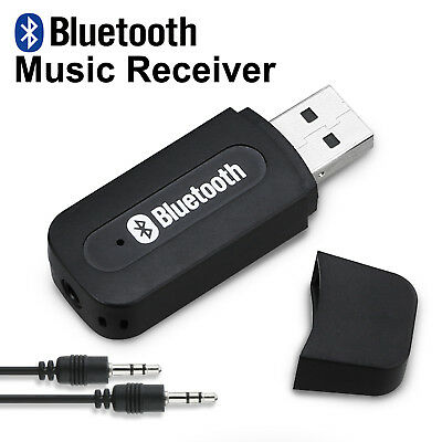 In Car USB Bluetooth Audio Adapter Car Kit Wireless Music AUX Output  Dongle