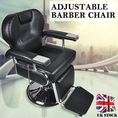 Barber Chair Salon Hydraulic Reclining Hairdressing Cut Threading Shaving UK NEW