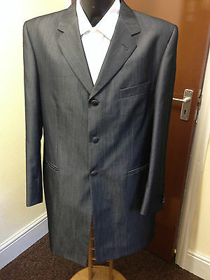 Mens Torre Shiny Grey / Silver Prince Edward / Morning Coat, Wedding Etc