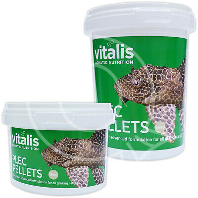 VITALIS PLEC PELLETS FISH FOOD HEALTH COLOUR VITALITY TROPICAL 8mm AQUARIUM