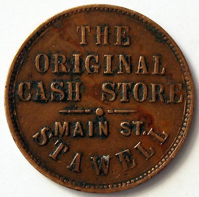 Trade Token  circa 1865 Half Penny - Crothers & Co - Stawell - Victoria - Scarce