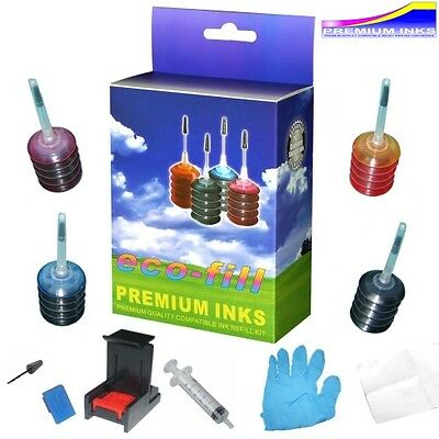 Ecofill Hp Envy 5640 7640 Ink Cartridge Refill Kit & Tools Hp 62 Envy5640 Hpenvy