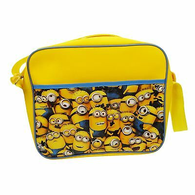 Despicable Me 'minions' Courier Shoulder School Kids Teenager Bag New Official