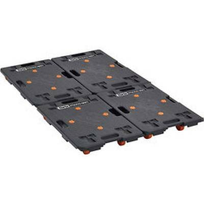 4 x Clarke CDT2 Emboîtement Chariot Plate-forme Roue Trolley 100kg max charge