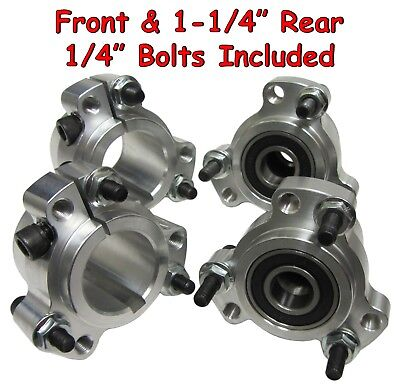 "Wheel Hub Set (Front & 1-1/4"" Rear) Go Kart Cart Parts Aluminum Rear w/Hardware"
