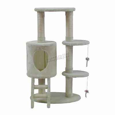 FoxHunter Cat Tree Scratching Post Activity Centre Bed Toys Scratcher M004 Beige