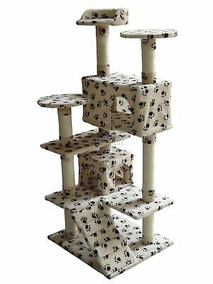 FoxHunter Kitten Cat Tree Scratching Post Sisal Toy Activity Centre BWP CAT005
