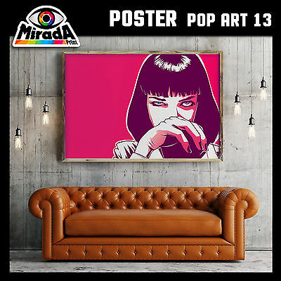 POSTER POP ART UMA THURMAN andy warhol CARTA FOTOGRAFICA 50x35 70x50 100x70