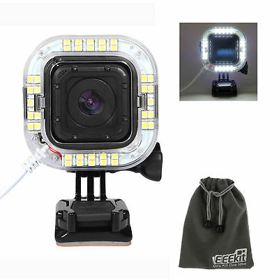 External USB Port LED Lens Ring Shooting Flash Light for Gopro Hero 5 4 Session