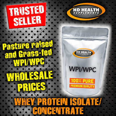 5Kg Pure Banana Whey Protein Isolate / Concentrate Powder   Wpi Wpc