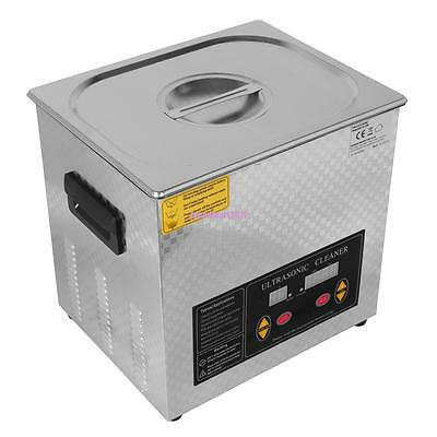 10L Liter Stainless Steel Industry Heated Ultrasonic Cleaner Heater w/ Timer