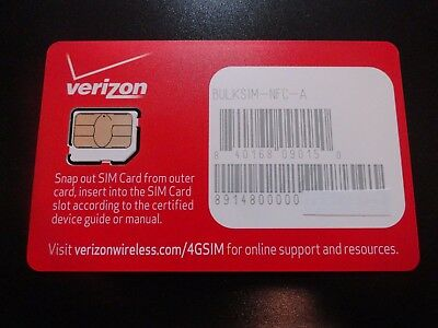 New 4G Lte 3Ff Micro Sim Card For Verizon Apple & Samsung Android Devices & More