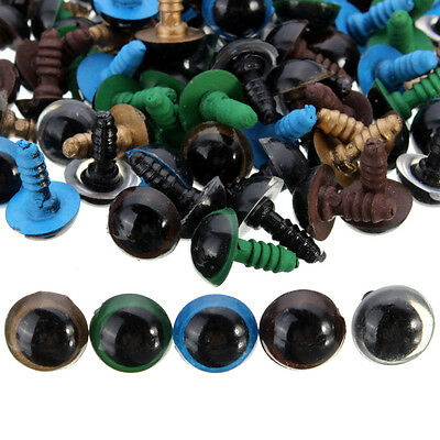 100pcs 10mm Multicolor Plastic Safety Eyes For Teddy Bear Doll Animal Puppet DIY