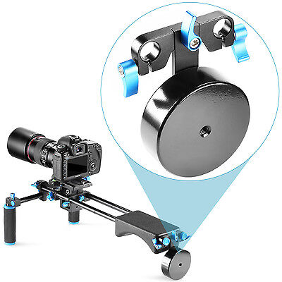 Neewer Black Aluminium Alloy Shoulder Rig Mount Stabilizer 15mm Rail Rods