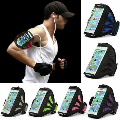 Sports Armband Holder Running Jogging Gym Case Cover Mesh for Apple iPhone 5 5S