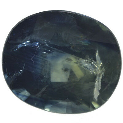 Gema de ZAFIRO AZUL NATURAL en TALLA OVAL de 1.57ct. 7x6mm. SOLO CALOR!!!