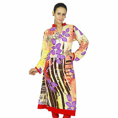 Indian Designer Printed Bollywood Women Ethnic Kurti Rayon Top Tunic Dress