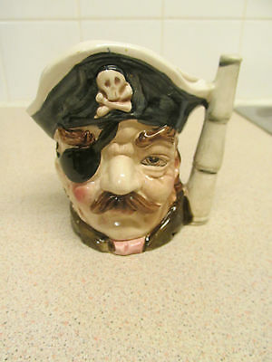 Vintage Small Foreign Ceramic Toby / Character Jug Pirate
