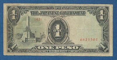 JAPON // JAPAN -- OCCUPATION PHILIPPINES -- 1 PESO ND (1943 ) -- F+ -- PICK 109a
