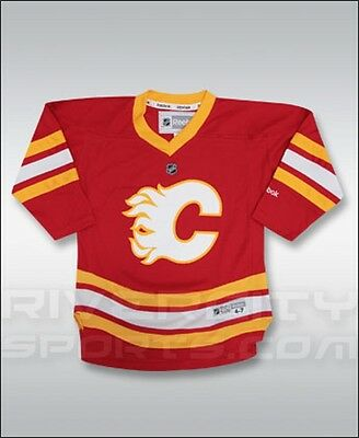 NHL Calgary Flames Youth Ice Hockey Shirt Jersey