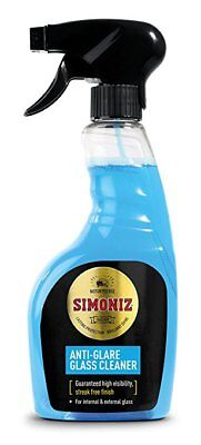 SIMONIZ ANTI GLARE GLASS CLEANER 500ml INSIDE OUTSIDE GLASS TRIGGER SPRAY P0080A